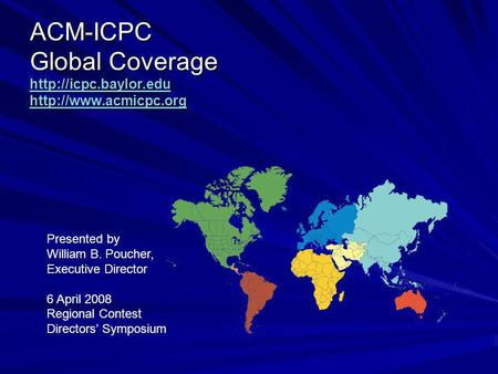 ACM-ICPC Global Coverage
