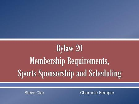 Steve ClarCharnele Kemper. Sports sponsorship. Contests versus dates of competition. Multiteam events in individual sports. Scheduling requirements. Sports.