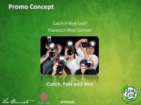KPPREMS Promo Concept Catch A Real Leaf! Paparazzi Blog Contest Catch, Post and Win!
