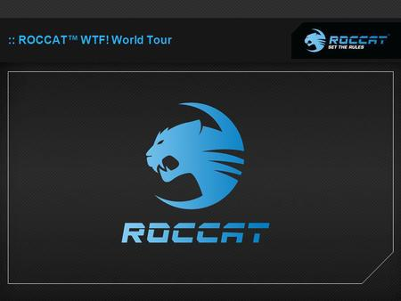 :: ROCCAT WTF! World Tour. A trip through the weird, strange and unexpected 25.11.2011 - end of January.