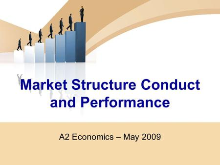Market Structure Conduct and Performance A2 Economics – May 2009.