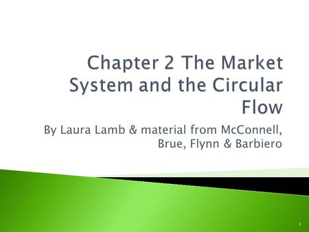By Laura Lamb & material from McConnell, Brue, Flynn & Barbiero 1.