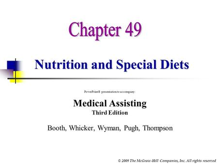 Nutrition and Special Diets