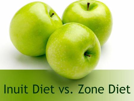 Inuit Diet vs. Zone Diet. The Zone Diet The Zone Diet was originally created as a cure to treat cardio-vascular disease and diabetes. But with its successful.