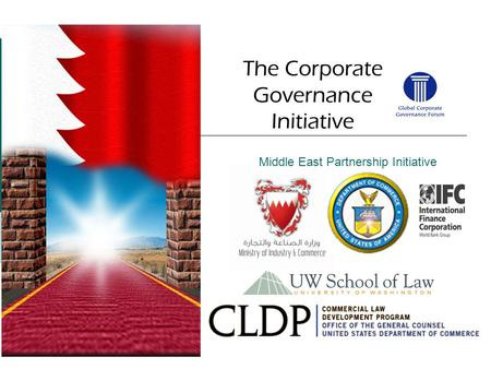Middle East Partnership Initiative The Corporate Governance Initiative.