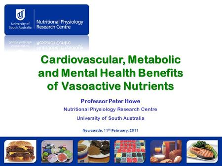 Professor Peter Howe Nutritional Physiology Research Centre
