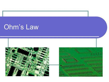Ohm's Law.