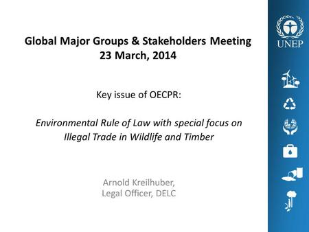 ILLEGAL WILDLIFE TRADE Global illegal wildlife trade (excl. timber) worth $15-20 billion annually – together recognized as the fourth largest global illegal.
