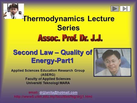 Thermodynamics Lecture Series
