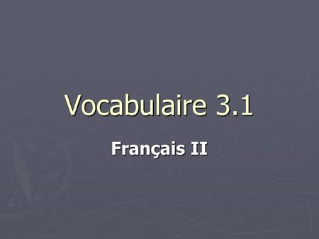Vocabulaire 3.1 Français II. 2 Cest combien, sil vous plaît? How much is it, please? How much is it, please?