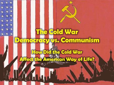 Although the United States and the Soviet Union were the major players during the Cold War, many other countries were also affected by this world.