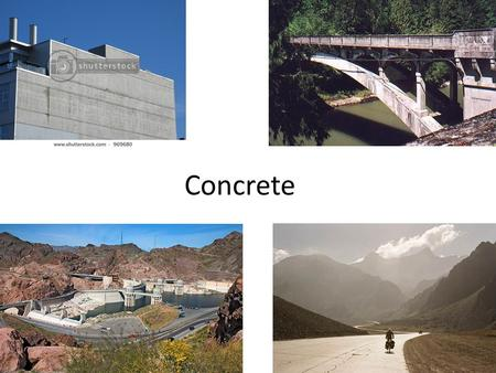 "Concrete. The word ""concrete"" originates from the Latin verb ""concretus"", which means to grow together."