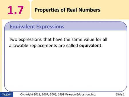 Copyright 2011, 2007, 2003, 1999 Pearson Education, Inc.