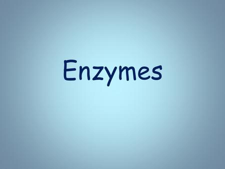 Enzymes. Introduction to Enzymes  Chemical reactions all occur at different rates  Some are very quick and some are extremely slow.