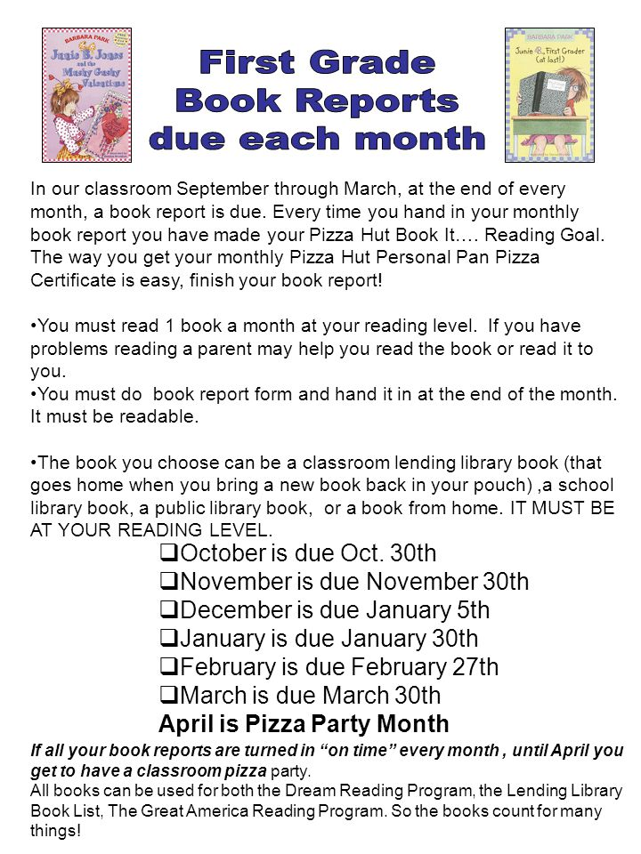 book report and march