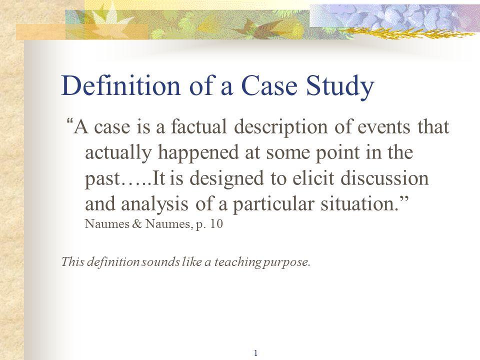 Case Studies Definition