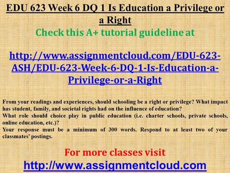 is education a right or a privilege