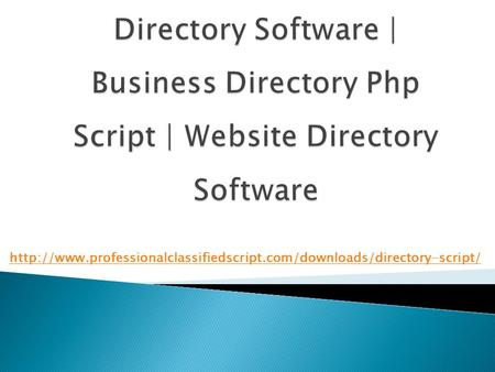 Directory Software | business directory php script | Website Directory Software