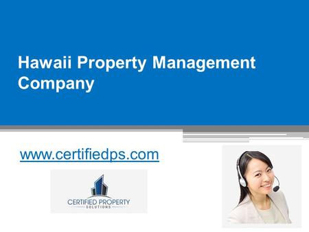 Hawaii Property Management Company - www.certifiedps.com