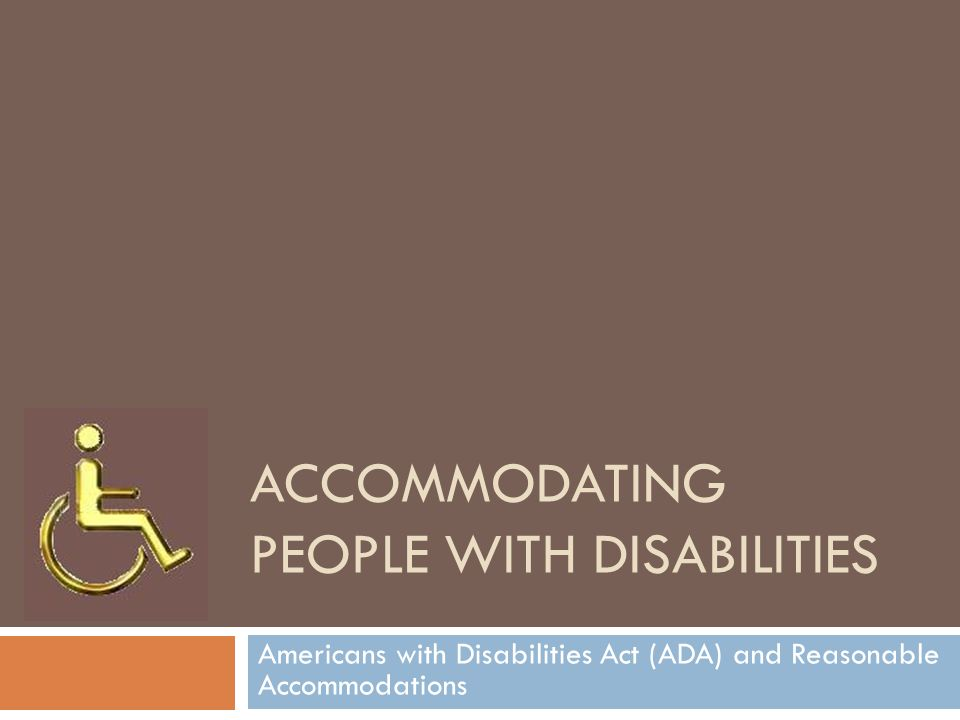 Accommodating people with disabilities handy dating