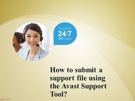 How to submit a support file using the Avast Support Tool?