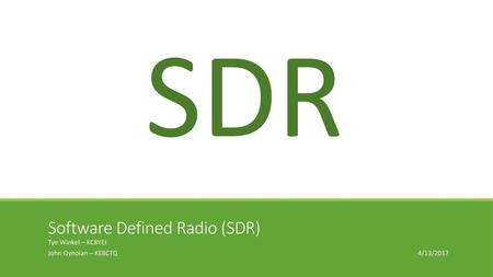 What is RTL-SDR? RTL-SDR is a very cheap software defined