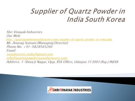 Shri Vinayak Industries Our Web: talc-powder-in-india phphttp