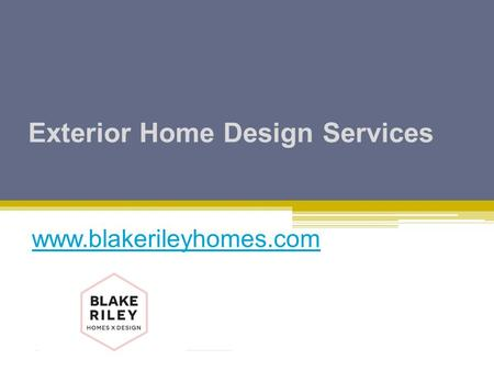 Exterior Home Design Services