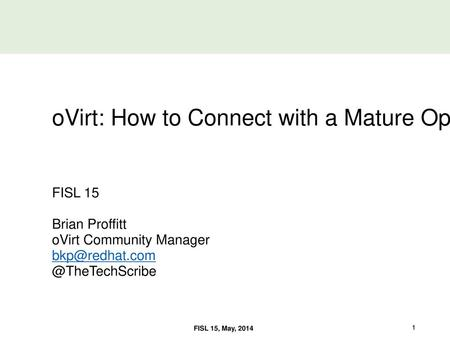 Open Source Virtualization with oVirt - ppt download