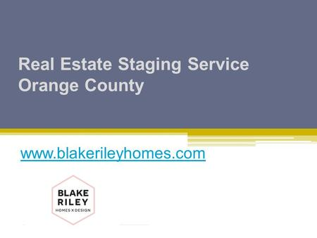 Real Estate Staging Service Orange County