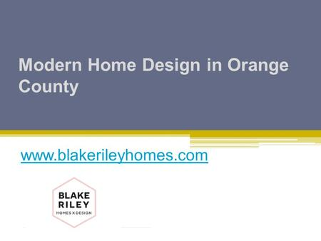 Modern Home Design in Orange County
