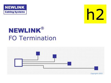 NEWLINK FO Termination Cabling Systems NEWLINK Copyrights 2003 h2.