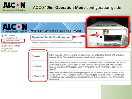 AOC-2406n  Operation Mode configuration guide
