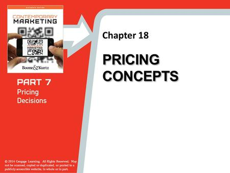 Pricing Concepts.