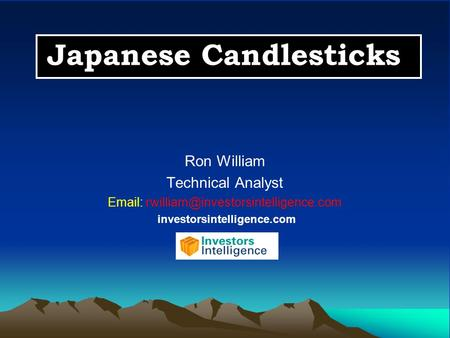 Japanese Candlesticks