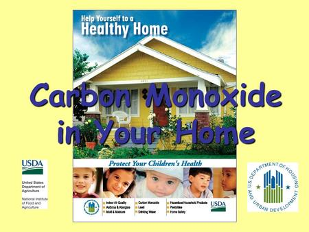 Carbon Monoxide in Your Home. What is Carbon Monoxide? CO Deadly gas Cant see, taste, feel or smell.