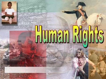 Objectives define what rights we have as humans and how those rights could be taken away or suppressed. read and discuss the article 2 In Would- Be Opposition.