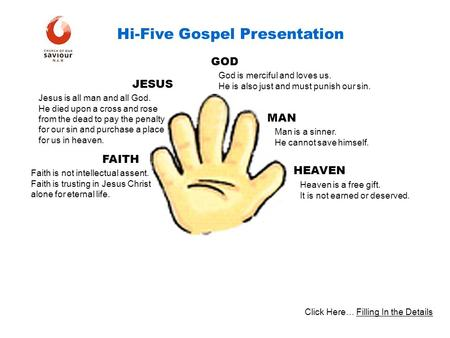 Hi-Five Gospel Presentation