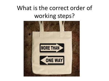 ? What is the correct order of working steps? 1.Methods 2.Results 3.Figures 4.Tables 5.Introduction 6.References 7.Discussion 8.Abstract.