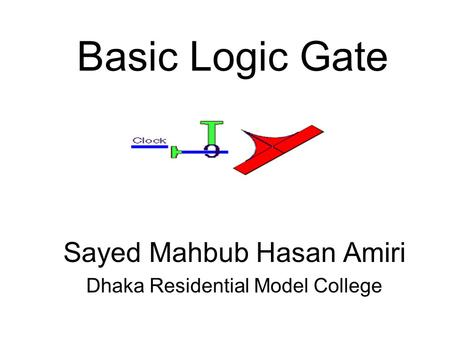 Basic Logic Gate Sayed Mahbub Hasan Amiri Dhaka Residential Model College.