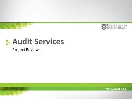 Www.usask.ca Audit Services Project Reviews. www.usask.ca Project Lifecycle G0G1a G1 G3G2 G4 DesignBuild.