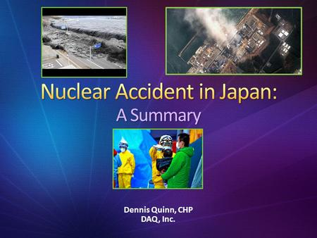 Nuclear Accident in Japan: A Summary