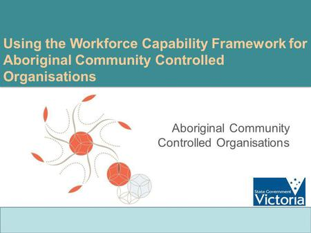 Using the Workforce Capability Framework for Aboriginal Community Controlled Organisations Aboriginal Community Controlled Organisations.