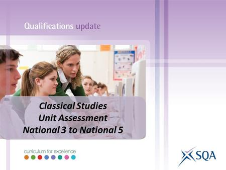 Classical Studies Unit Assessment National 3 to National 5