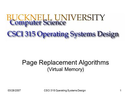 Page Replacement Algorithms (Virtual Memory)
