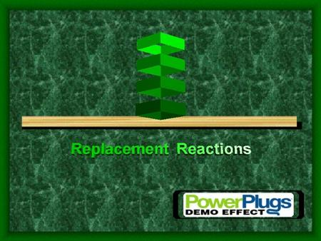 Single Replacement One element replaces a similar element in a compound A + BX AX + B A replaces B if A and B are similar Metals can replace less reactive.