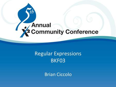 Regular Expressions BKF03 Brian Ciccolo. Agenda Definition Uses – within Aspen and beyond Matching Replacing.