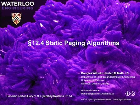 §12.4 Static Paging Algorithms