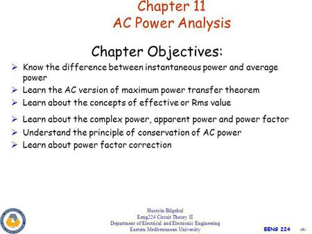 Chapter 11 AC Power Analysis