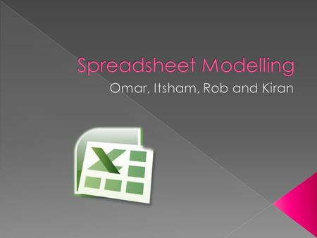 A spreadsheet is an application which allows you to calculate many simple or complex figures You can create this figures by using formulas; this helps.
